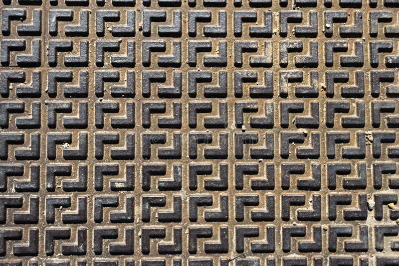 Sömlös metallgolvplatta royaltyfri bild