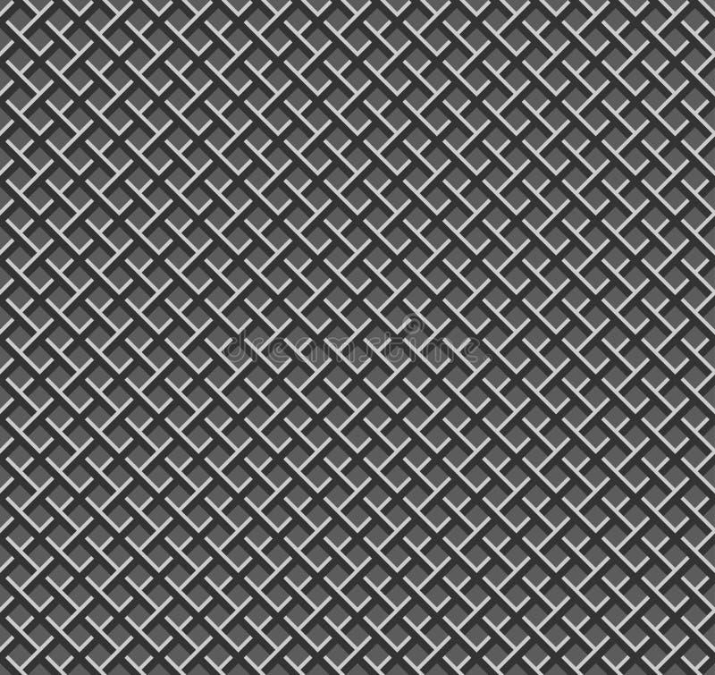 Sömlös metallrastermodell stock illustrationer
