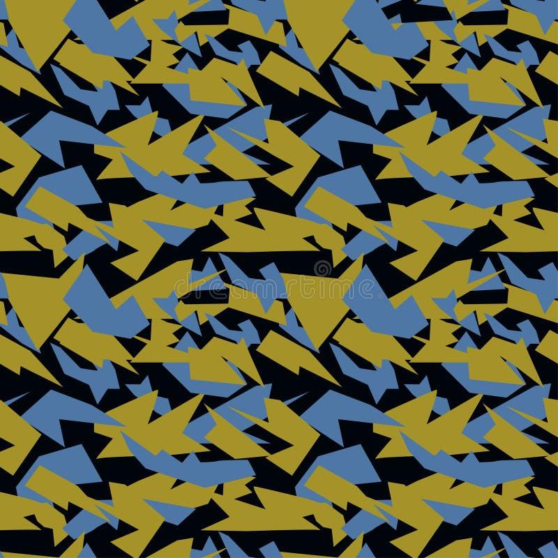 Sömlös militär kamouflagetextur militär bakgrund militär textur för textil vektor illustrationer