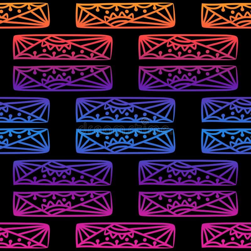 Sömlös modell av beads-11 vektor illustrationer