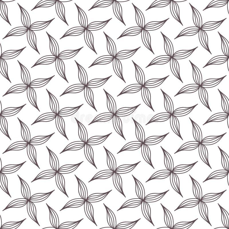 Sömlös modell av bruna kronblad vektor illustrationer