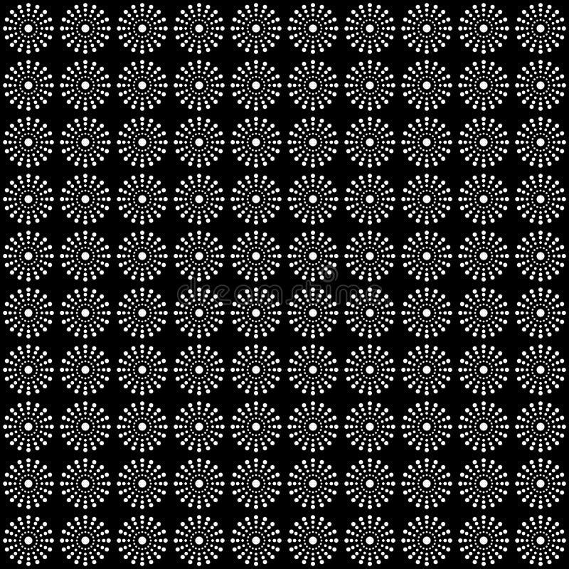 Sömlös modell av cirklar och prickar geometrisk bakgrund royaltyfri foto