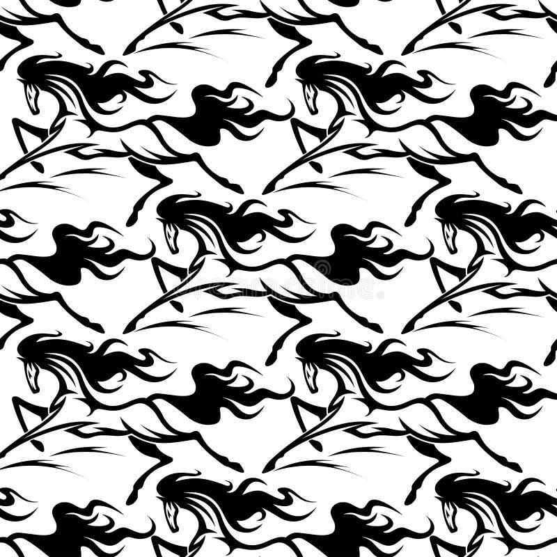 Sömlös modell av hästhingst stock illustrationer