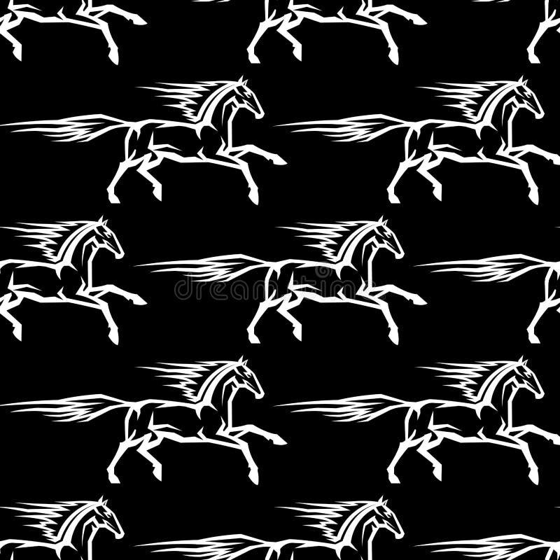 Sömlös modell av hästhingst royaltyfri illustrationer