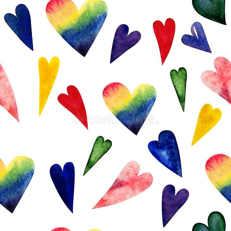 Sömlös modell av hjärtor för valentindag Okonventionell förälskelse vektor illustrationer