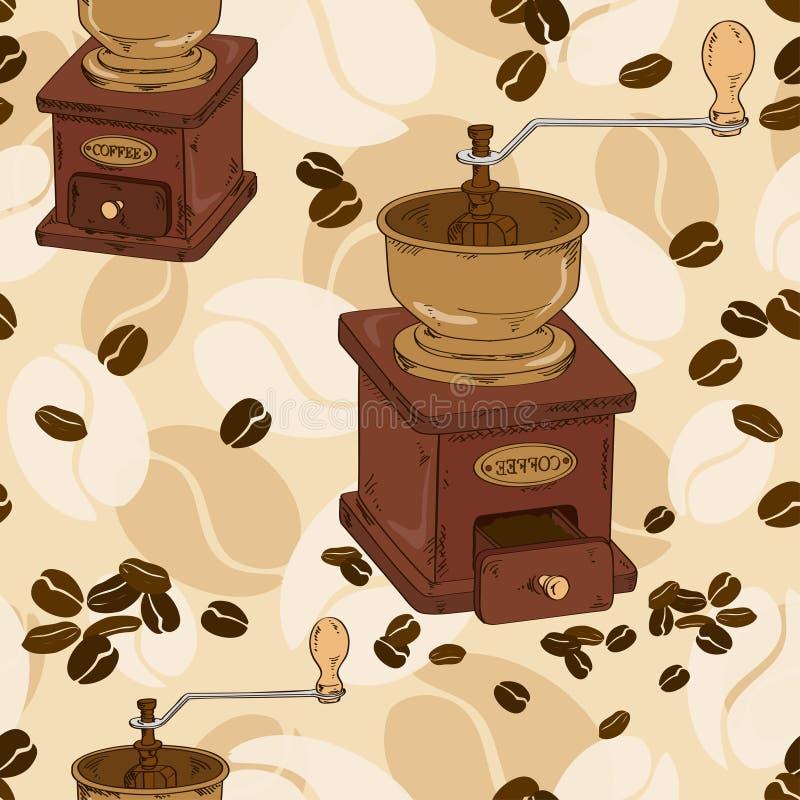Download Sömlös Modell Av Kaffekvarnen Vektor Illustrationer - Illustration av panera, shoppa: 37348187