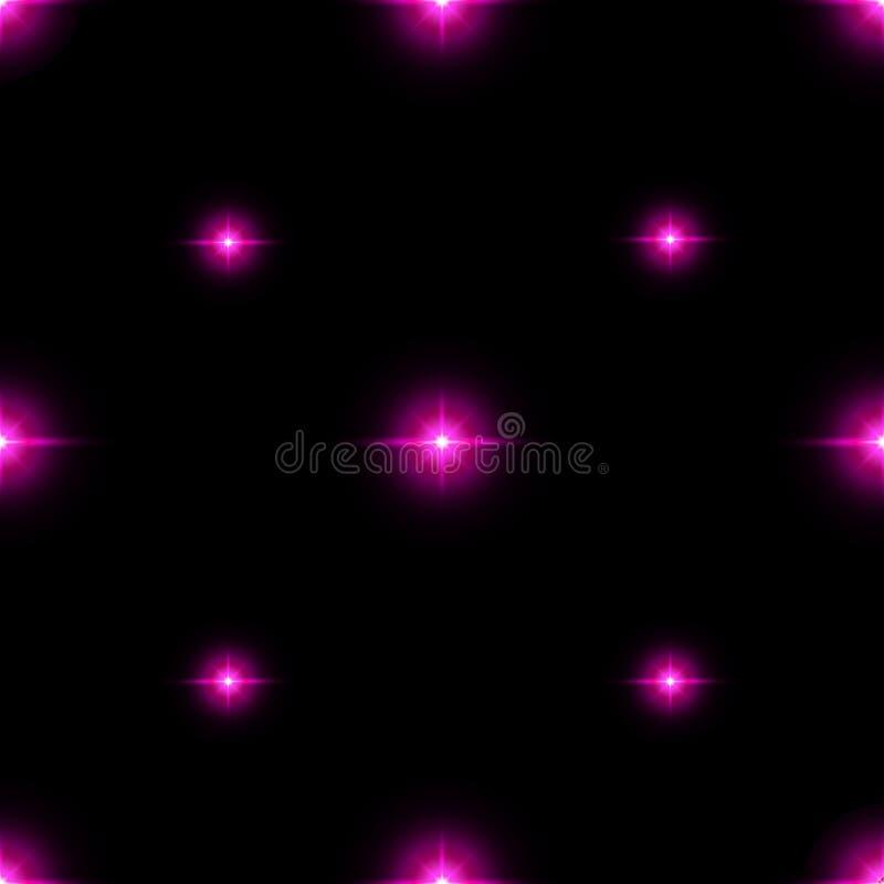 Sömlös modell av lysande stjärnor Illusion av ljusa exponeringar vektor illustrationer