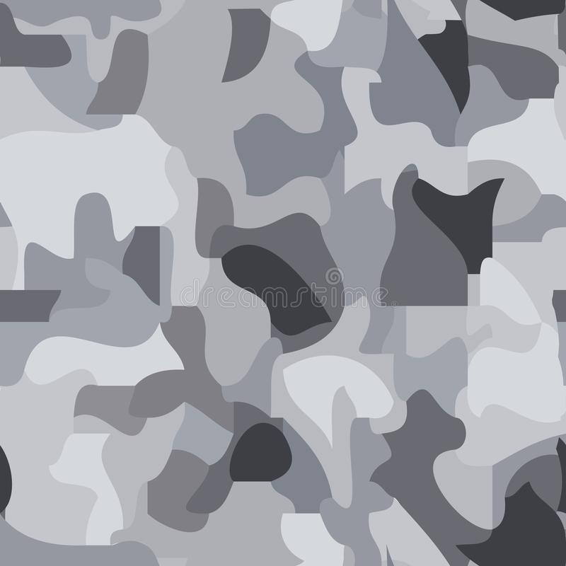Sömlös modell av mörkt och ljust - gråa fläckar, kamouflage, nästan texturen och färgen av granit stock illustrationer