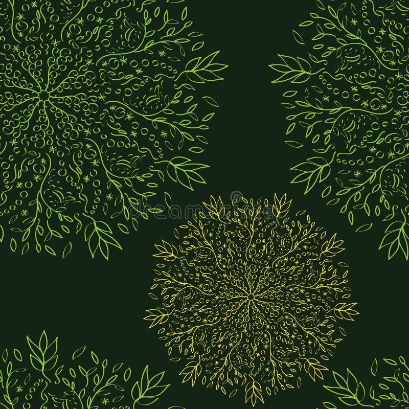 Sömlös-modell-av-snöra åt-blommor royaltyfri illustrationer