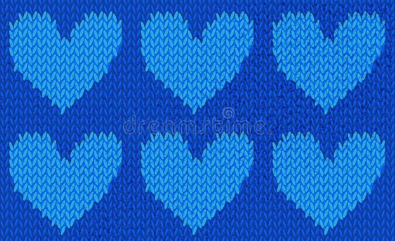 Sömlös modell av stucken hjärta royaltyfri illustrationer