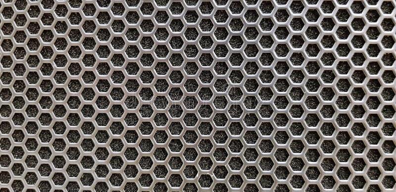 Sömlös modell av textursilver- eller rostfritt stålsexhörningen för bakgrund royaltyfri bild