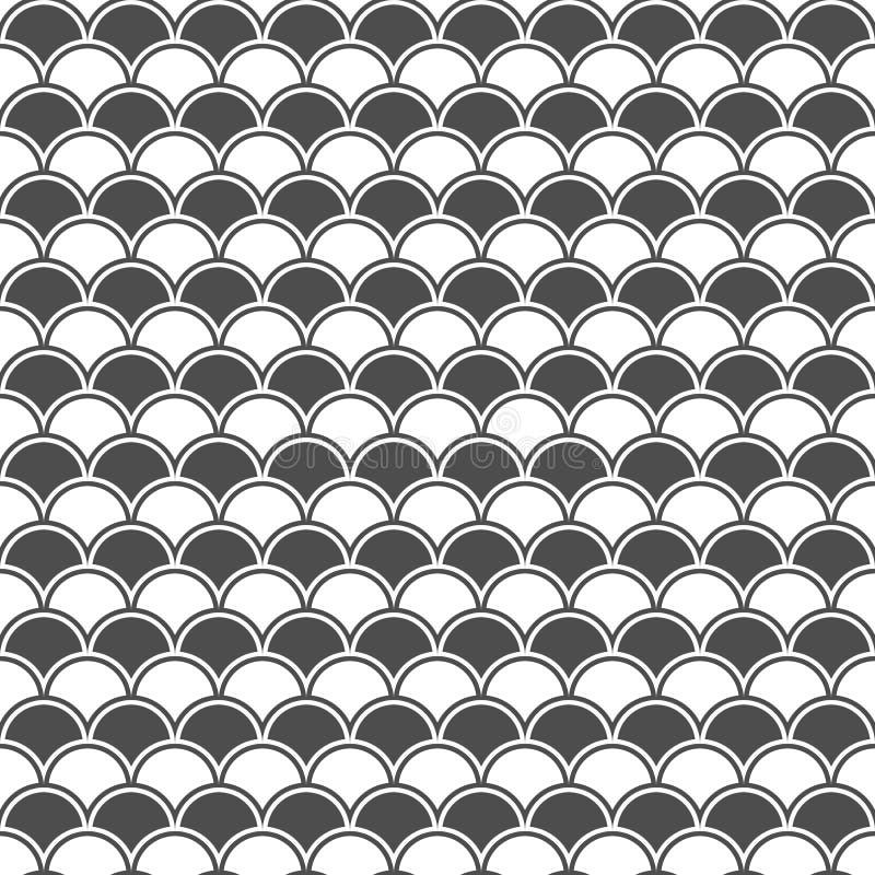 Sömlös modell av våg geometrisk bakgrund royaltyfri illustrationer