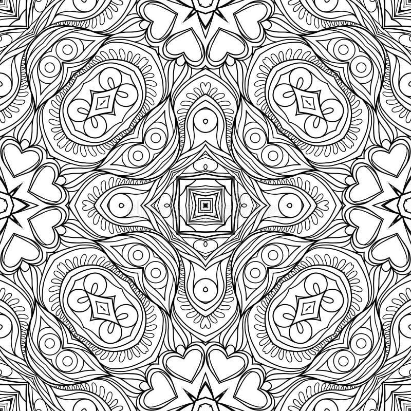 Sömlös modell, bakgrund med geometrisk blom- abstrakt patt vektor illustrationer