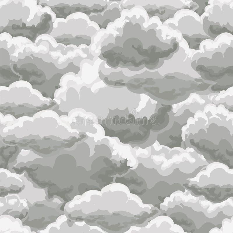 Sömlös modell för åskahimmel stock illustrationer