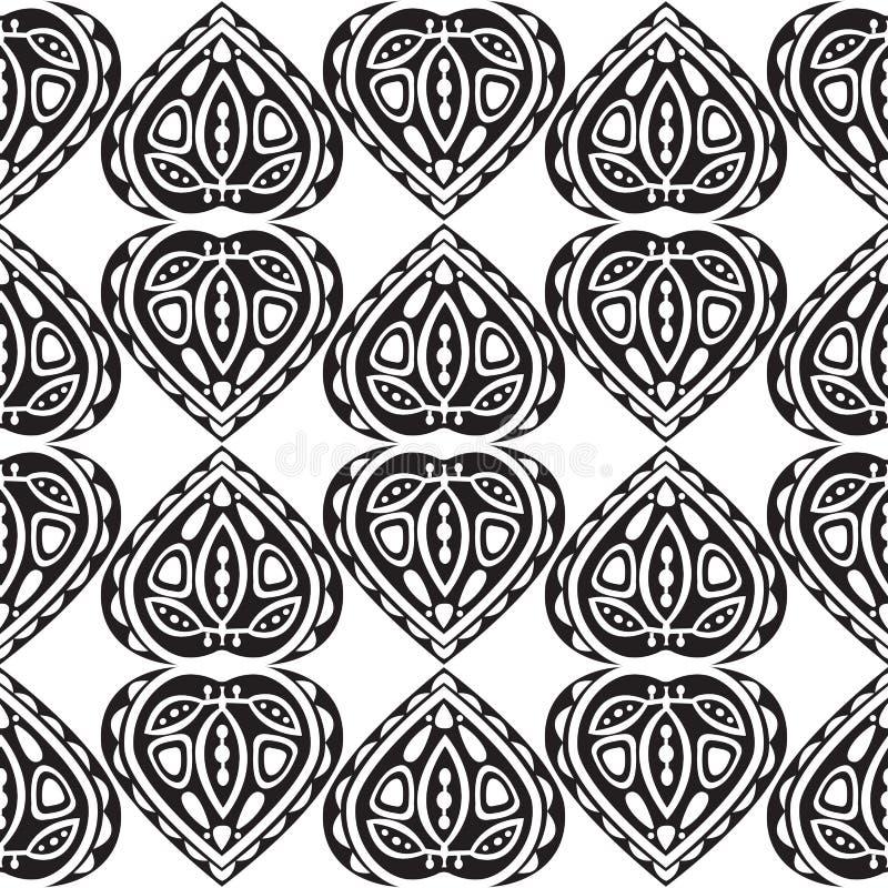 Sömlös modell för abstrakt begreppsidaprydnad royaltyfri illustrationer