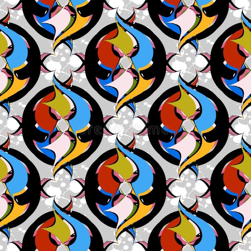 Sömlös modell för abstrakt dekorativ färgrik vektor dekorativt vektor illustrationer