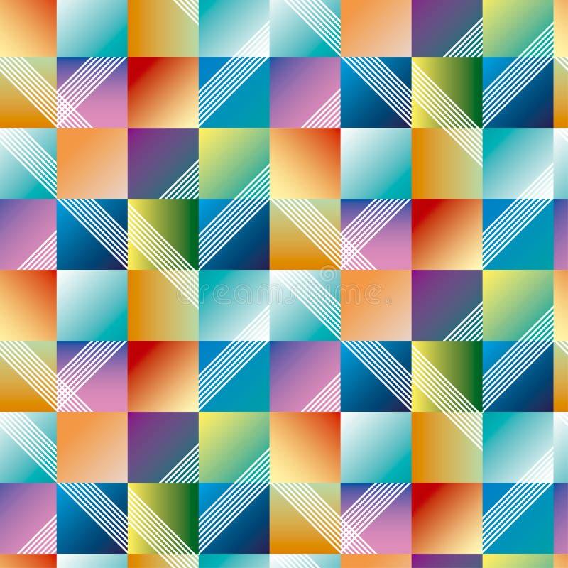Sömlös modell för abstrakt geometri för yttersidadesign Vektor il royaltyfri illustrationer