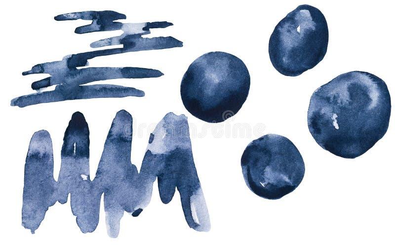 Sömlös modell för abstrakt monokrom vattenfärg stock illustrationer