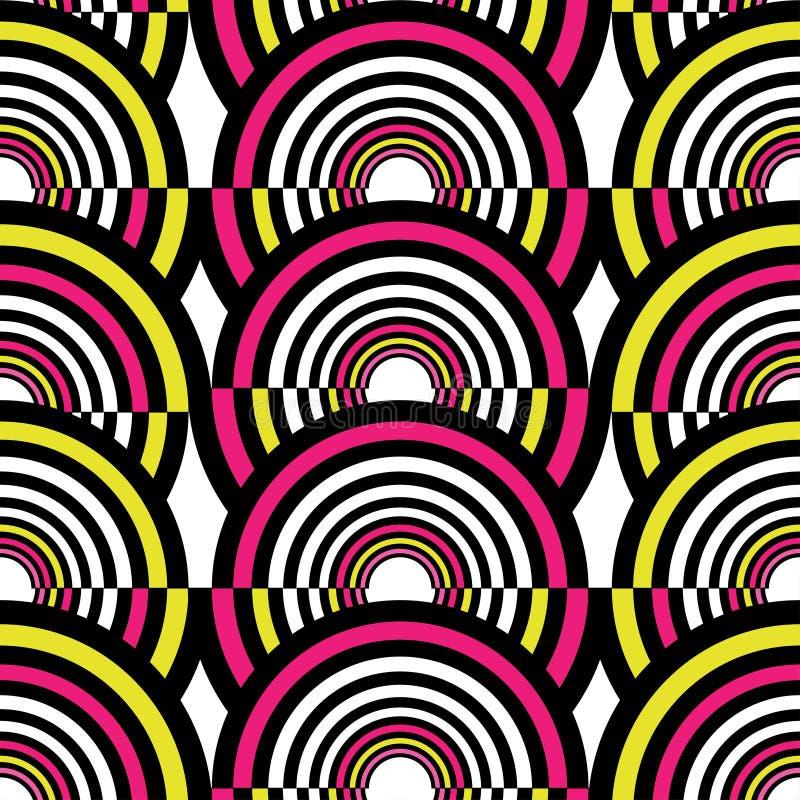 Sömlös modell för abstrakta geometriska cirklar också vektor för coreldrawillustration royaltyfri illustrationer