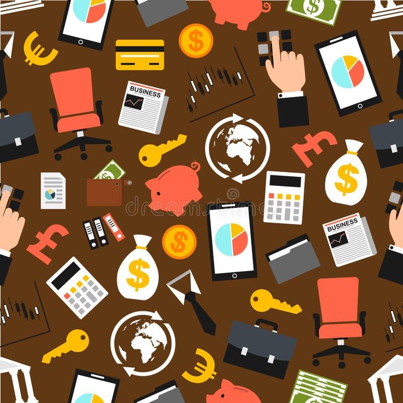 Sömlös modell för affärsobjektvektor royaltyfri illustrationer