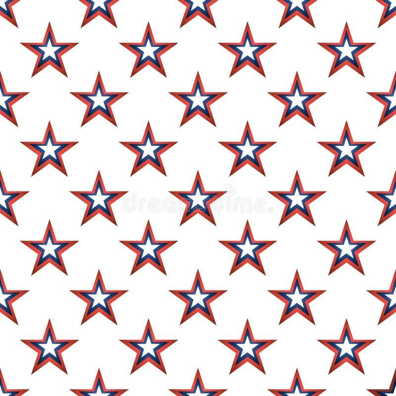 Sömlös modell för amerikanska stjärnor vektor illustrationer