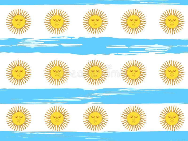 Sömlös modell för Argentina självständighetsdagen stock illustrationer