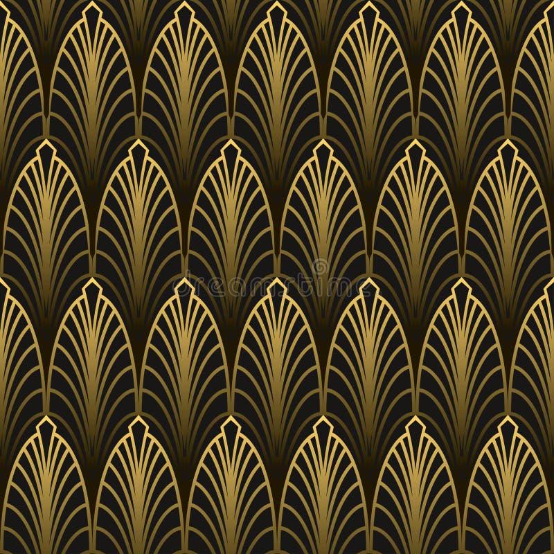 Sömlös modell för Art Deco stil royaltyfri illustrationer