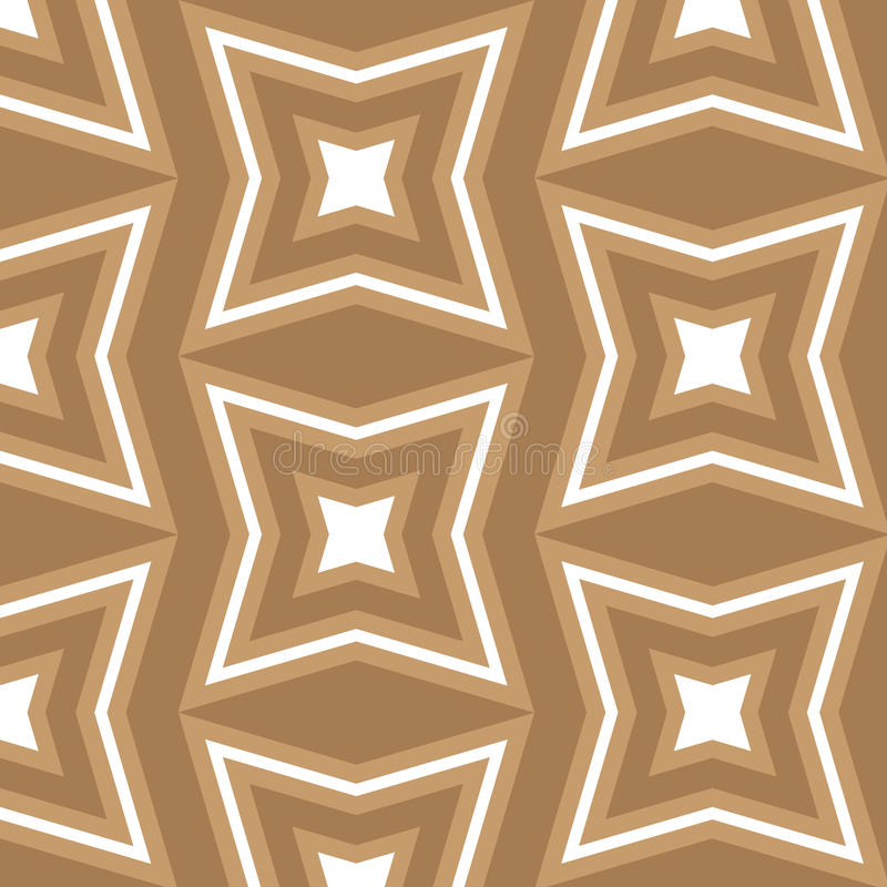 Sömlös modell för bakgrund för brunt- och vitstjärna themed fotografering för bildbyråer