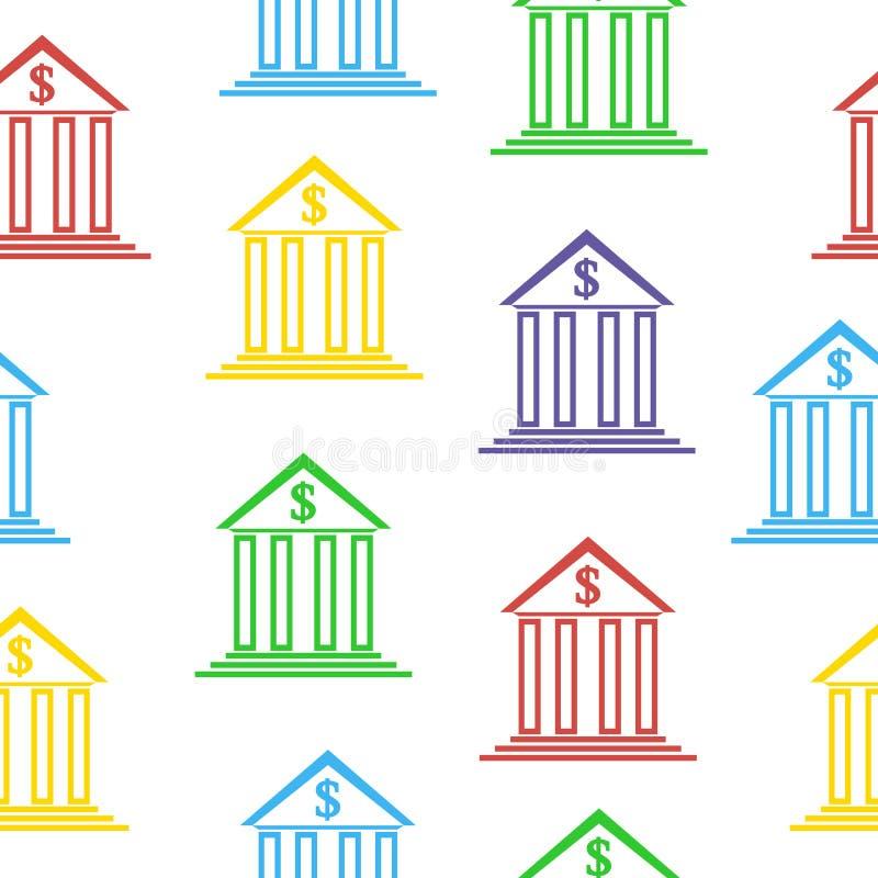 Sömlös modell för banktecken royaltyfri illustrationer