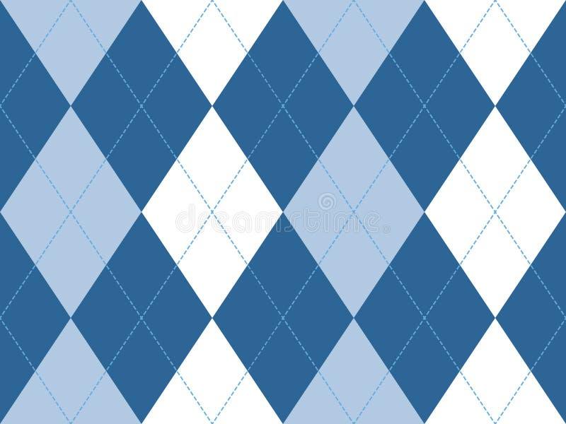 Sömlös modell för blå argyle vektor illustrationer