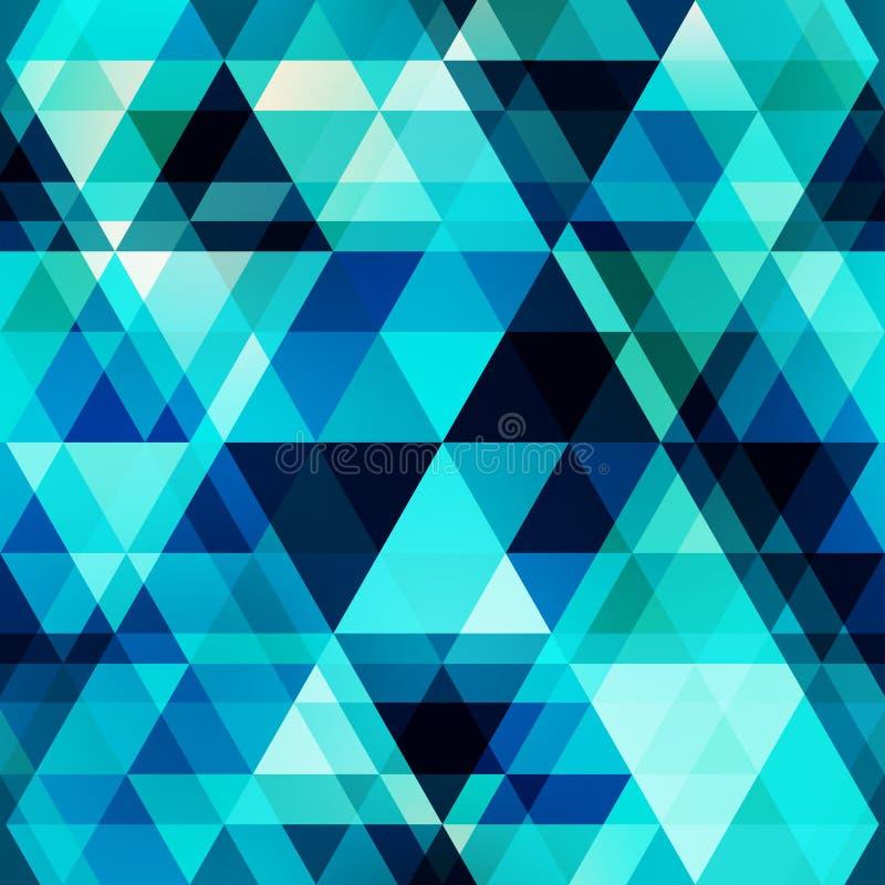 Sömlös modell för blå crystal vektor royaltyfri illustrationer