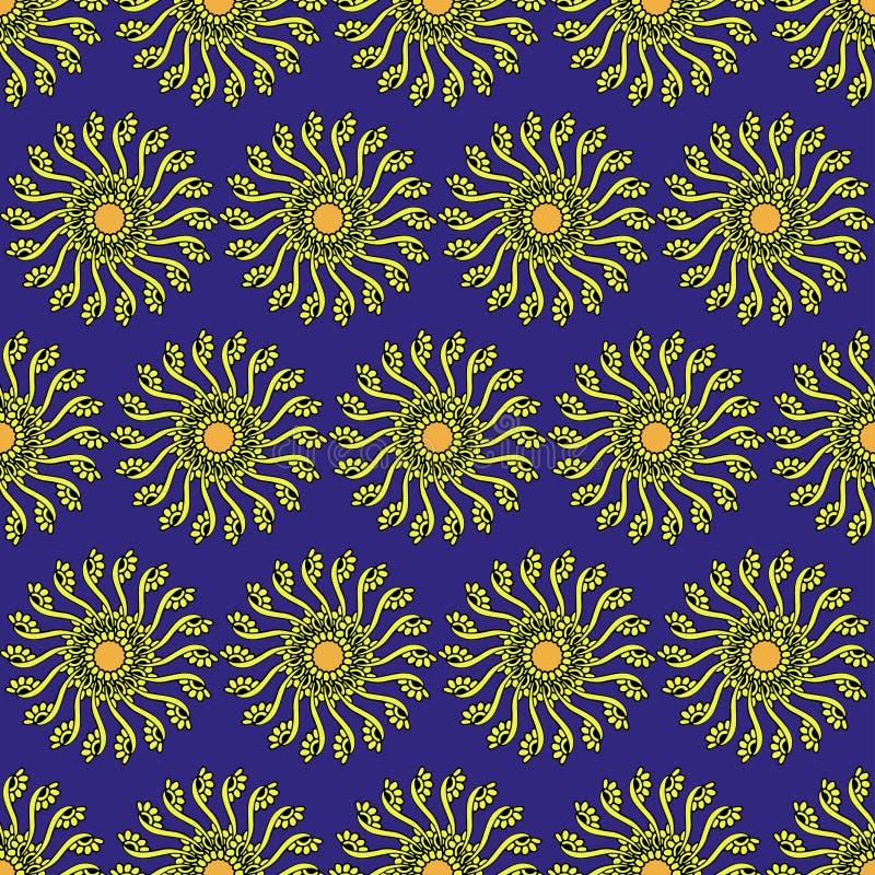 Sömlös modell för blom- vektor med elegant kamomill för blomma Naturlig hand dragen bakgrund Ändlös textur kan användas för wallp royaltyfri illustrationer