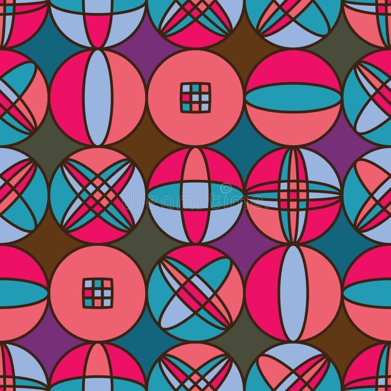 Sömlös modell för cirkeldiamantsymmetri vektor illustrationer
