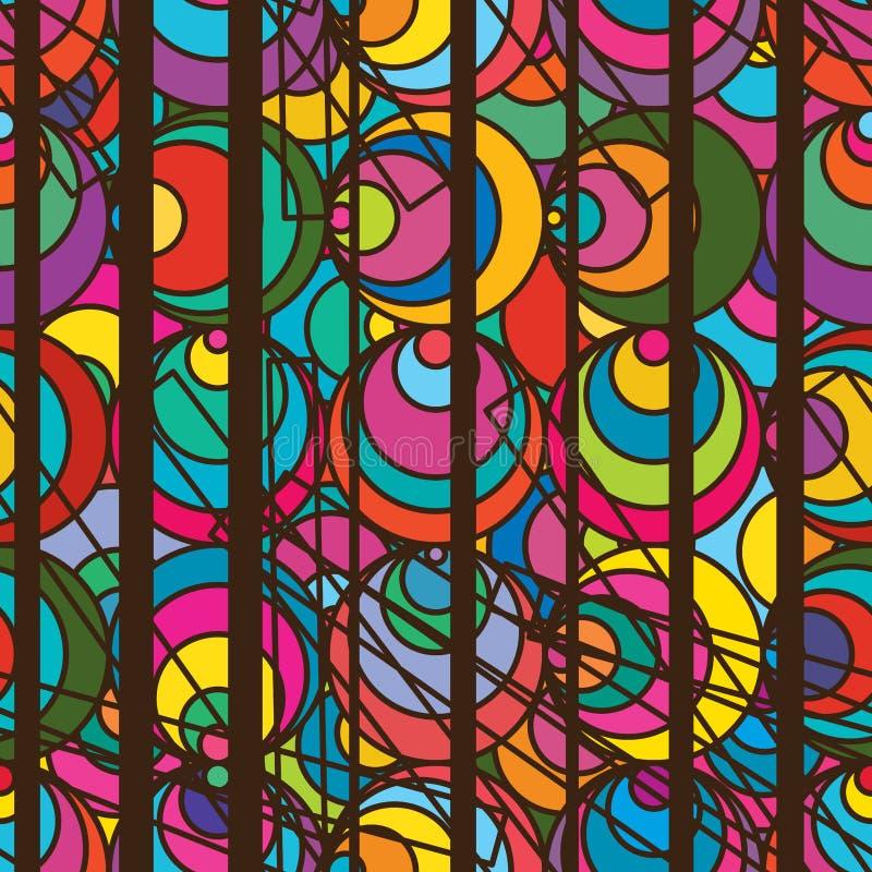 Sömlös modell för cirkelsida stock illustrationer