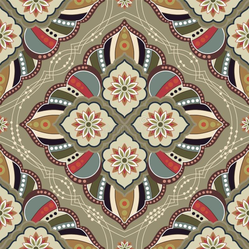 Sömlös modell för dekorativ vektor Etnisk sömlös tapet Folk dekorativ bakgrund Geometrisk illustration för vektor vektor illustrationer
