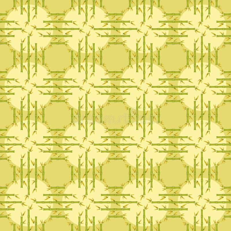 Sömlös modell för delikat bambu vektor illustrationer