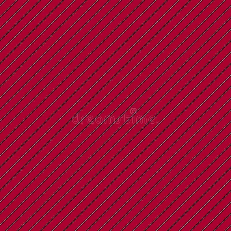 Sömlös modell för diagonala röda linjer för textur eleganta stock illustrationer