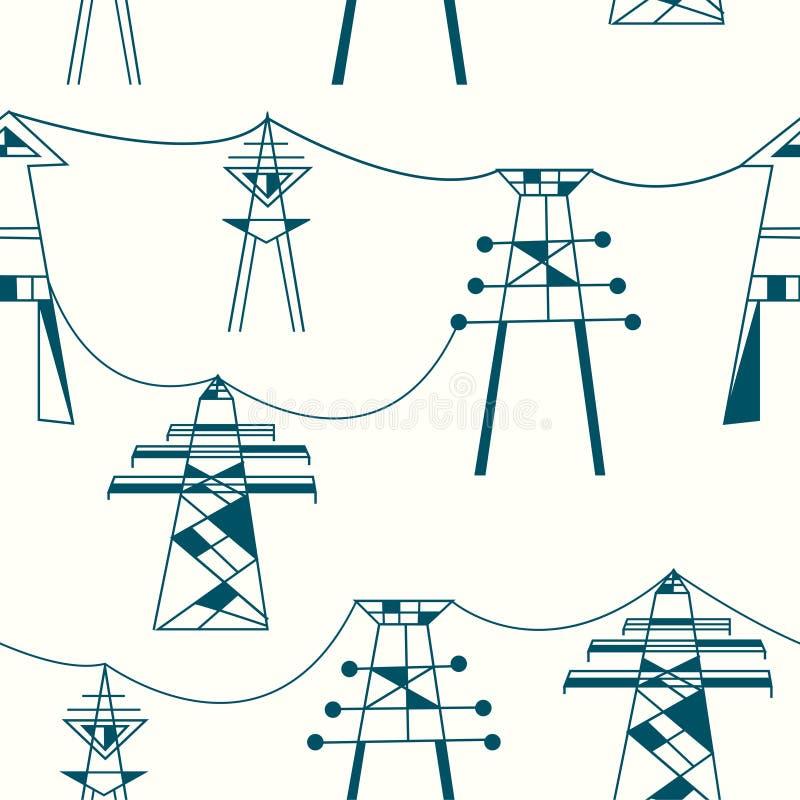 Sömlös modell för elektricitet vektor illustrationer