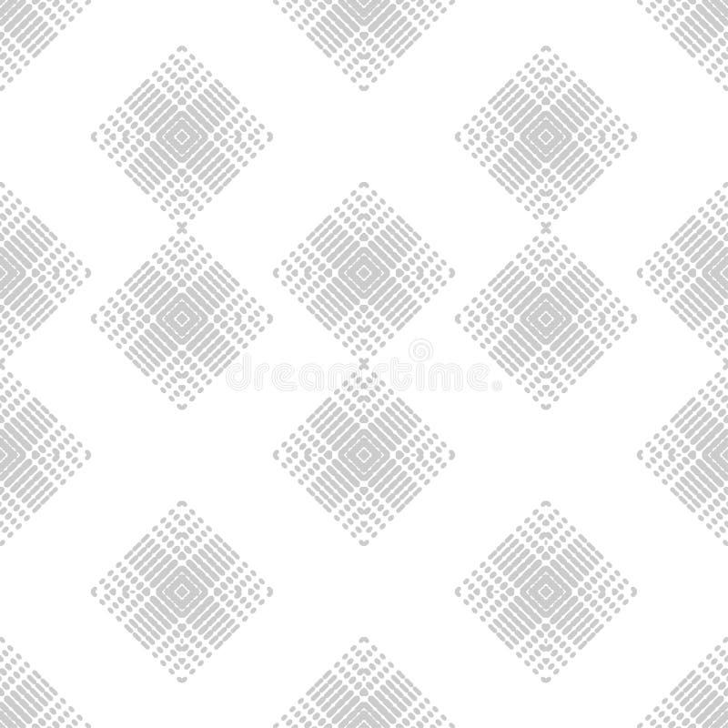 Sömlös modell för etnisk boho Former av prickar och PIXEL Patchworktextur väva traditionell prydnad stam- modell Folk mo royaltyfri illustrationer