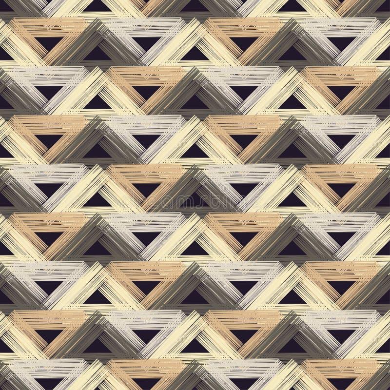 Sömlös modell för etnisk boho Klottra textur Folk motiv vektor illustrationer