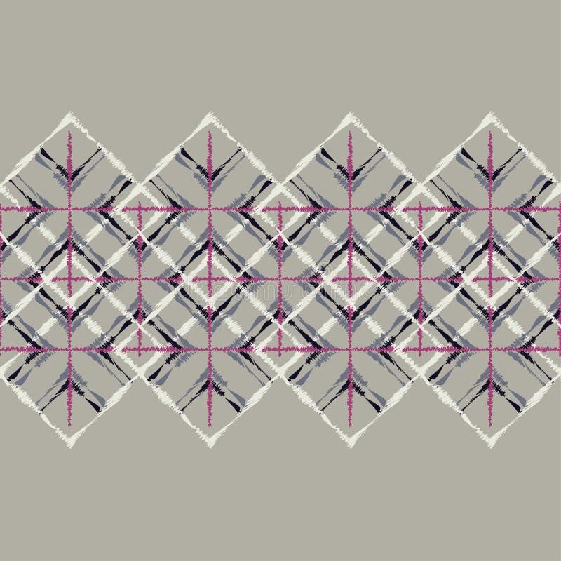 Sömlös modell för etnisk boho Klottra textur Folk motiv stock illustrationer