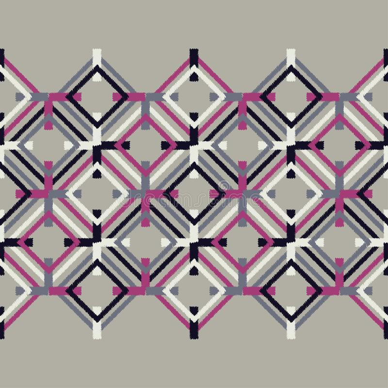 Sömlös modell för etnisk boho Klottra textur Folk motiv royaltyfri illustrationer