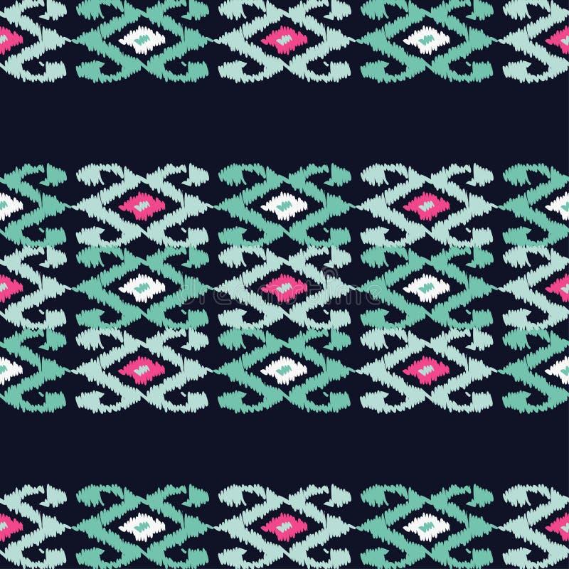 Sömlös modell för etnisk boho Klottra textur Retro motiv stock illustrationer