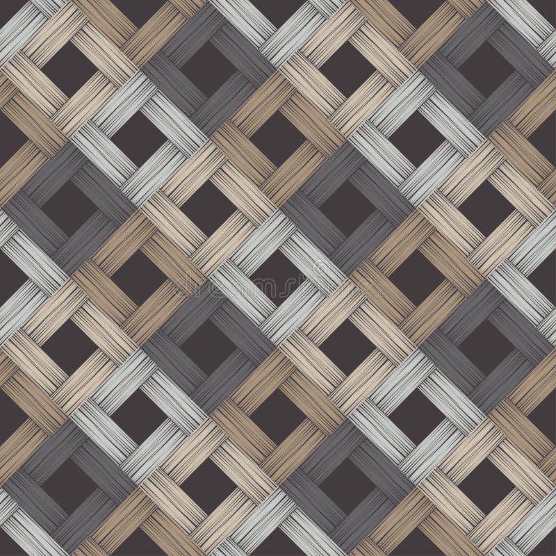 Sömlös modell för etnisk boho matt asiat Klottra textur Folk motiv vektor illustrationer
