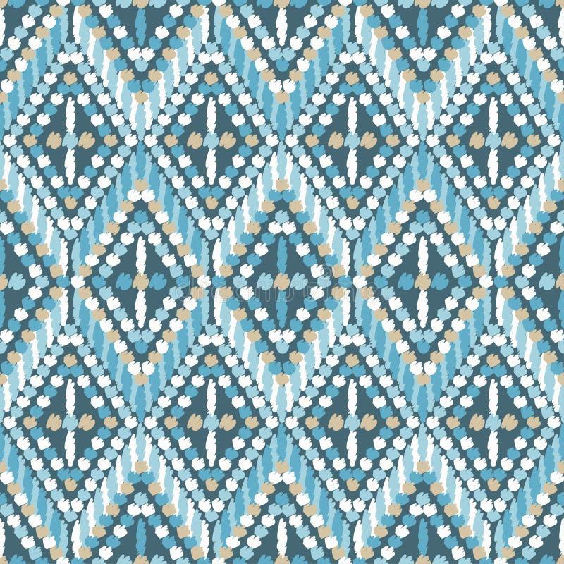 Sömlös modell för etnisk boho Retro motiv vektor illustrationer