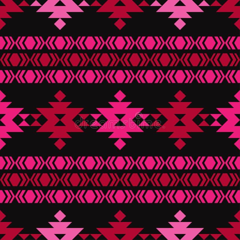 Sömlös modell för etnisk boho stam- modell Folk motiv stock illustrationer