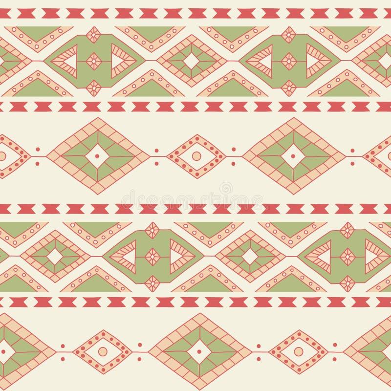 Sömlös modell för etnisk dekorativ textil stock illustrationer
