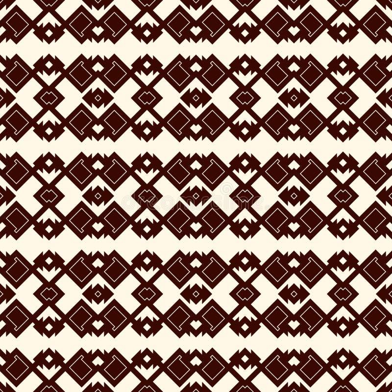 Sömlös modell för etnisk stilöversikt Indianer gör sammandrag bakgrund Stam- motiv Boho chic digitalt papper stock illustrationer