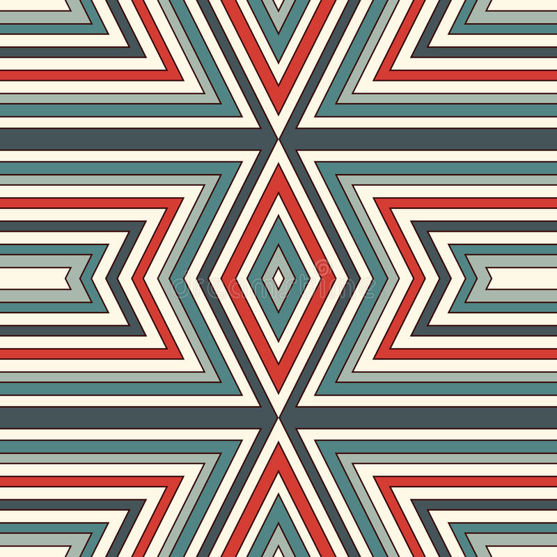 Sömlös modell för etnisk stil Indianer gör sammandrag bakgrund Stam- motiv Boho chic digitalt papper royaltyfri illustrationer