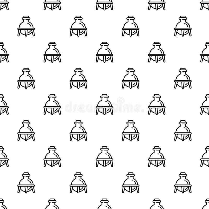 Sömlös modell för exponeringsglaskemiflaska royaltyfri illustrationer
